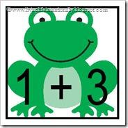 Frog math clipart.