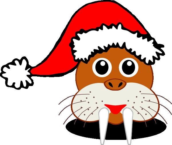 Santa Walrus Clip art.