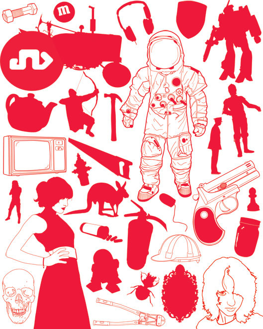 Random Objects Free Vector.