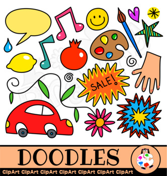 Doodle Clip Art Things.