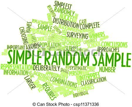 Drawings of Simple random sample.