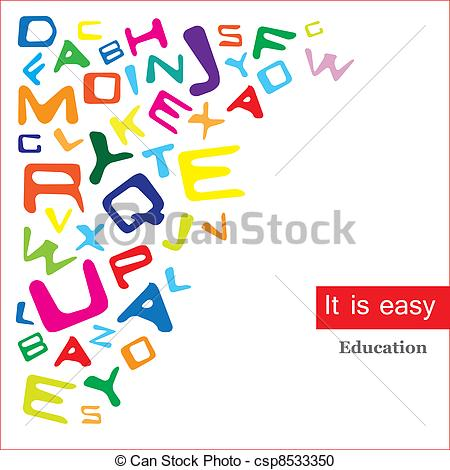 Vector Clipart of easy to learn.