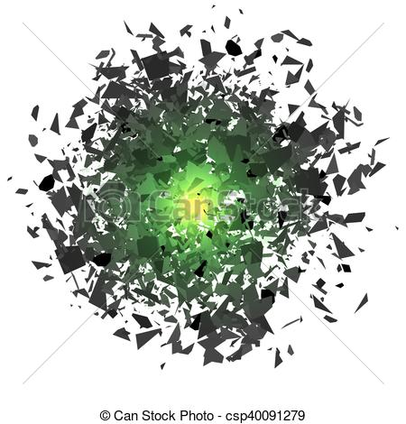 Vectors Illustration of Sharp Particles Randomly Fly in the Air.