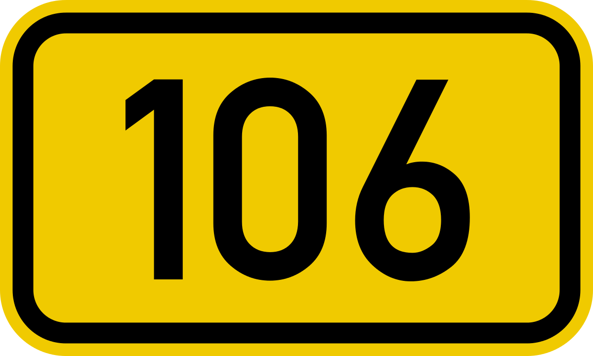 Bundesstraße 106.