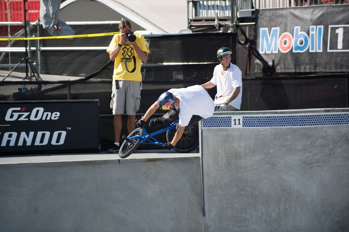 The Big Unit in focus: Randy Johnson shoots the X Games.