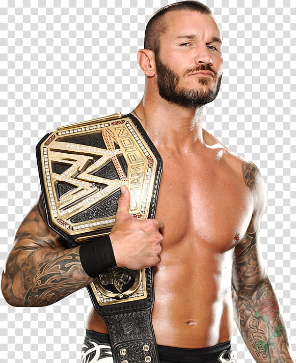 Randy Orton WWE Champion transparent background PNG clipart.
