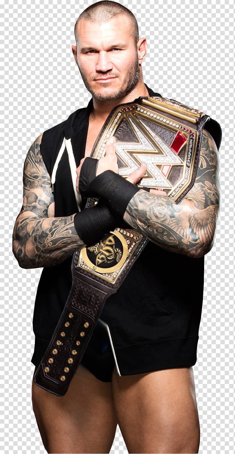 Randy Orton WWE Champion render transparent background PNG.