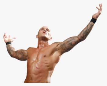 Randy Orton Raising Hands.