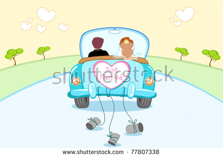 Just Married Stock Images, Royalty.