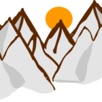 Free Mountain Range Clipart Image.