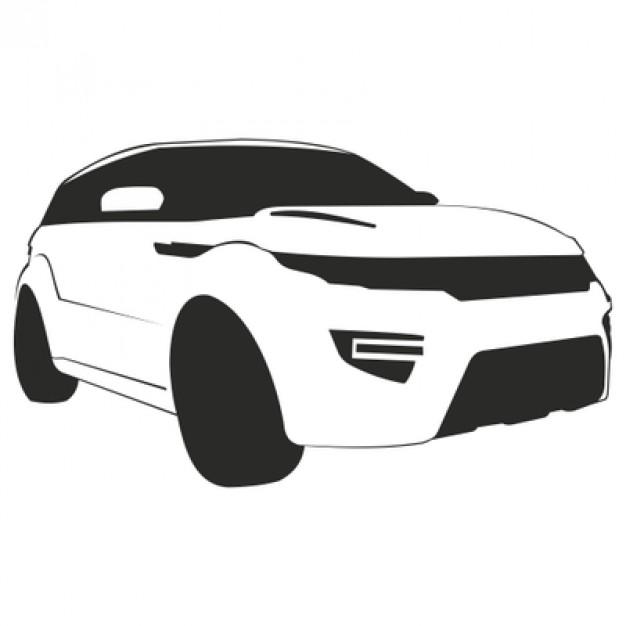 Speedy luxury car Range Rover Vector.