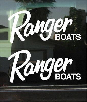 RANGER BOATS LOGO 10 INCH VINYL DECAL / STICKER PAIR.
