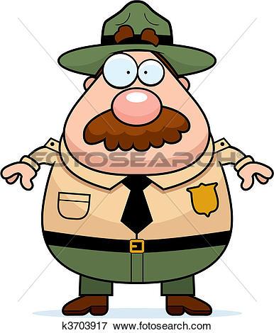 Stock Illustration of Park Ranger ranger.