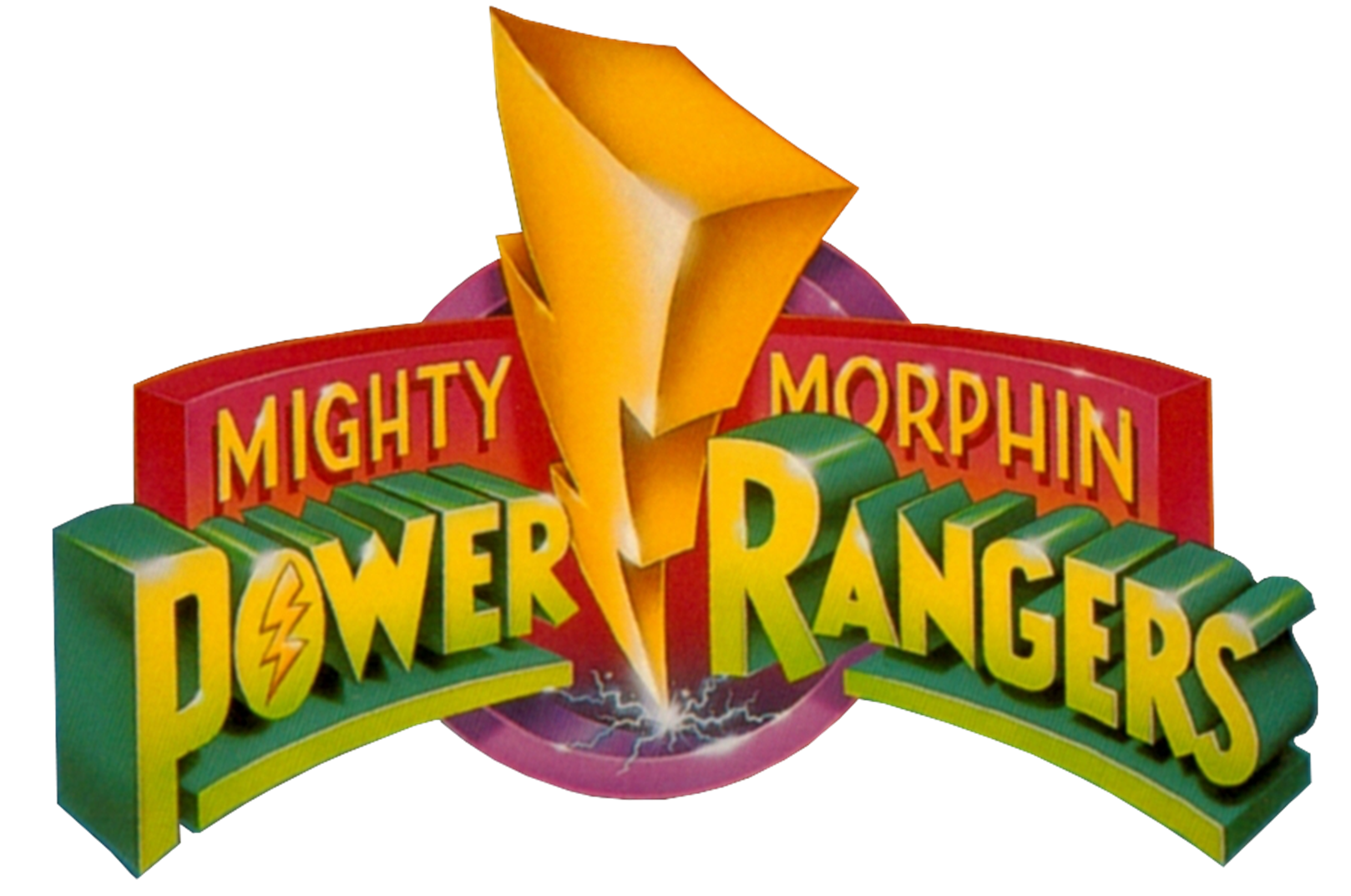 Mighty Morphin Power Rangers Logo Png.