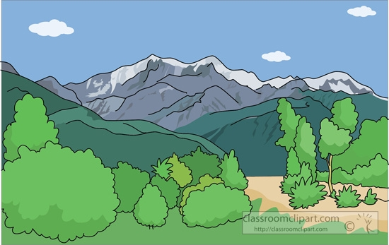 Mountain Ranges Clipart.