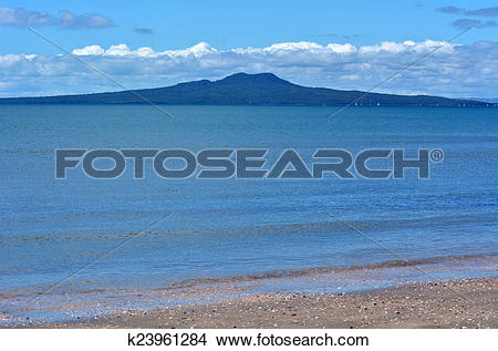 Stock Photo of Rangitoto Island landscape New Zealand k23961284.
