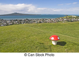 Stock Photo of New Zealand Rangitoto Island.