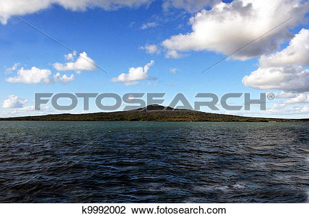 Stock Photo of New Zealand Rangitoto Island k9992002.
