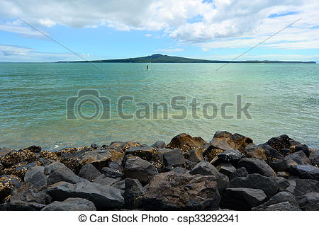 Stock Photo of Rangitoto Island Auckland New Zealand.