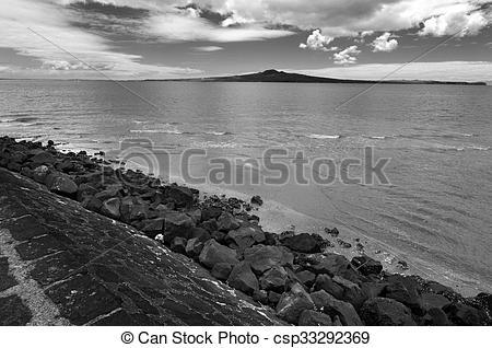 Stock Image of Landscape of Rangitoto Island Auckland New Zealand.