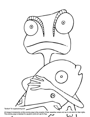 Rango with Fish coloring page.