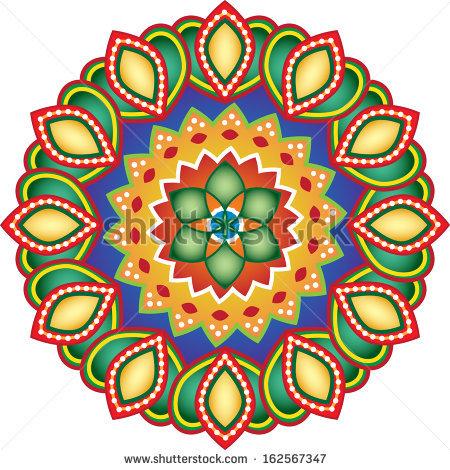 Indian Traditional Artistic Design Rangoli Stock Photos, Royalty.