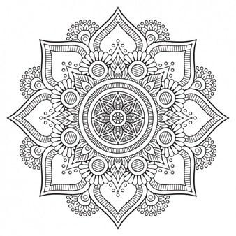Rangoli clipart black and white 2 » Clipart Portal.