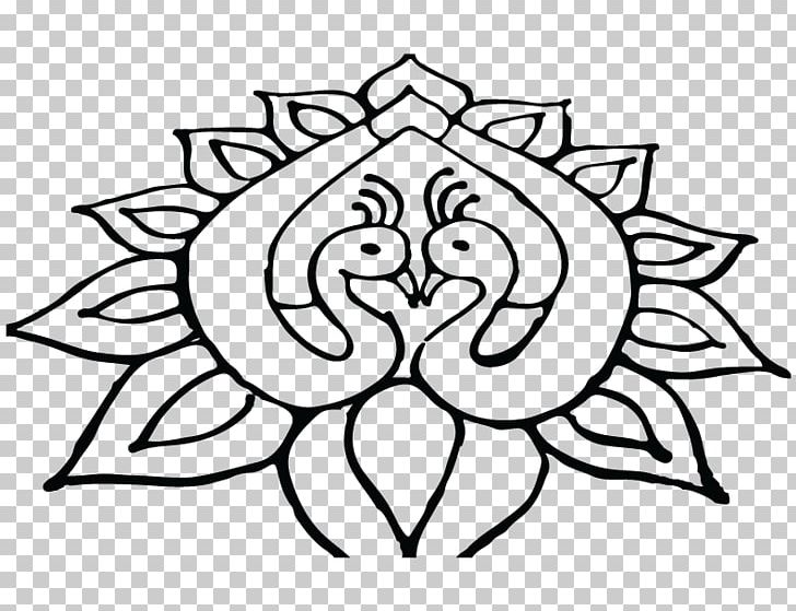 Rangoli Drawing Diwali PNG, Clipart, Art, Artwork, Black And.