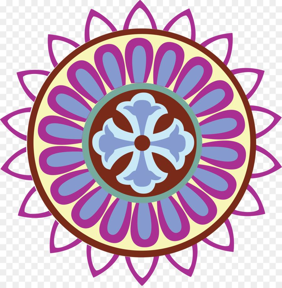 Flower Line Art png download.