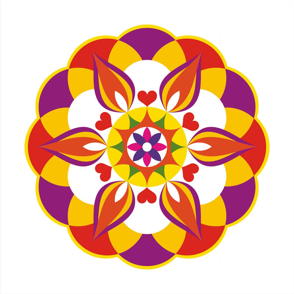 Rangoli Clipart Flower.