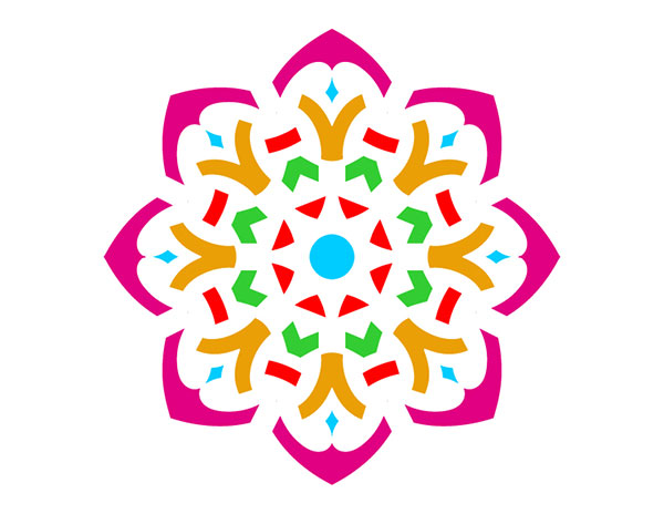 Simple Rangoli Clipart.