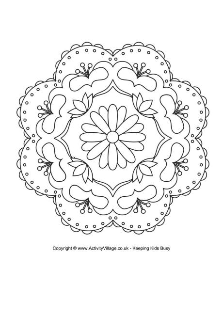 Rangoli Colouring Pages.