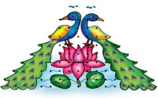 25 Best Peacock Rangoli Designs.