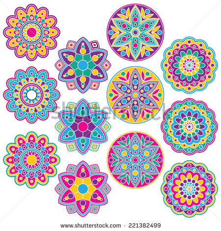 Rangoli Stock Images, Royalty.