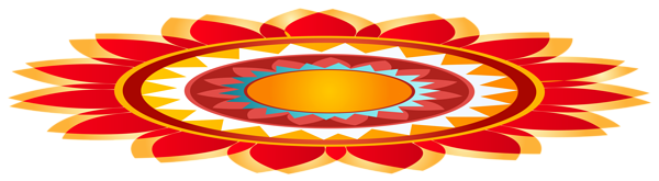 Rangoli Decoration Design PNG image free download.