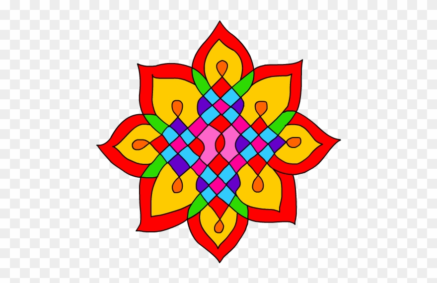 Collection Of Diwali Rangoli Design Clipart High Quality.
