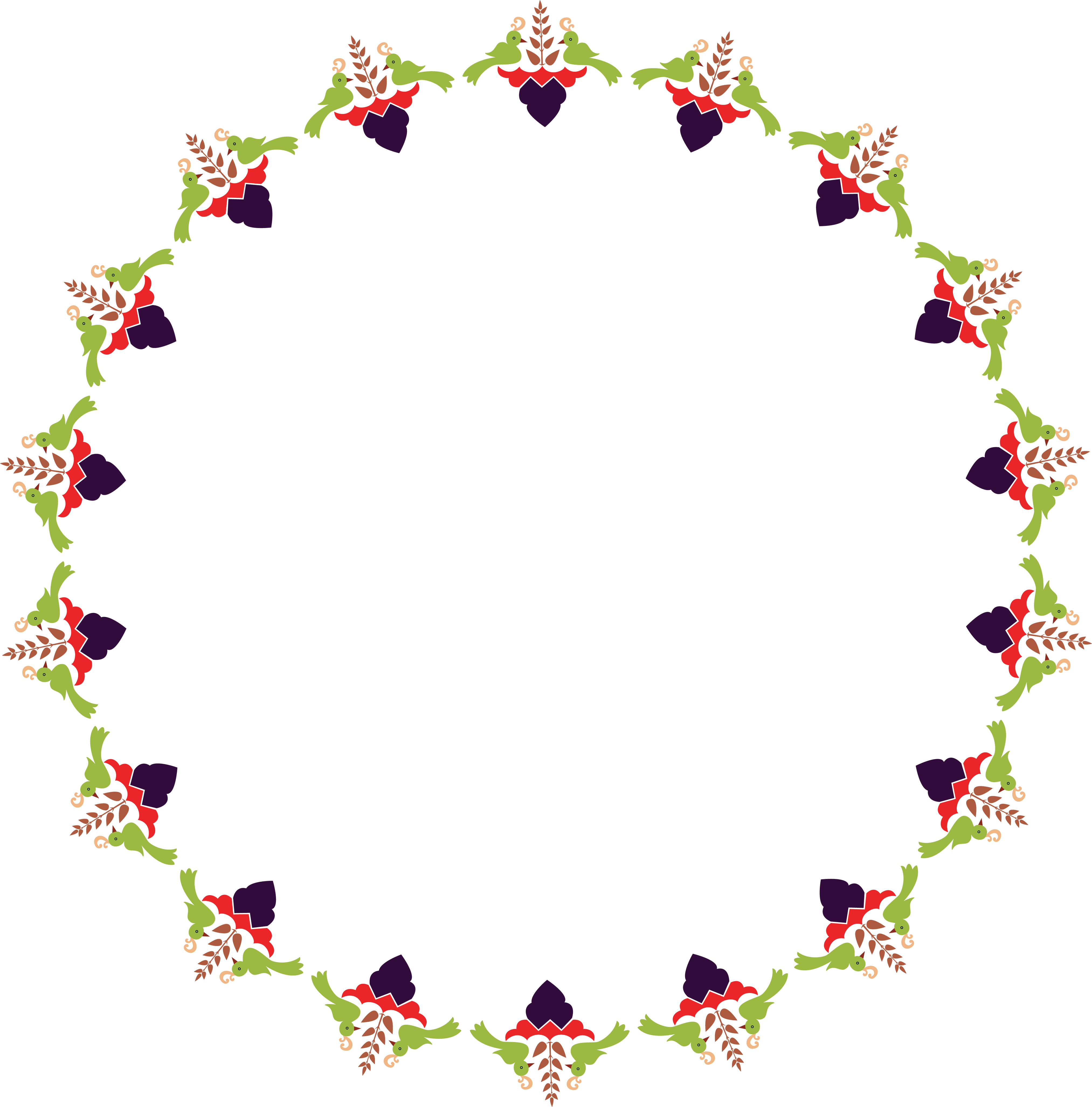 Circle Rangoli Design.