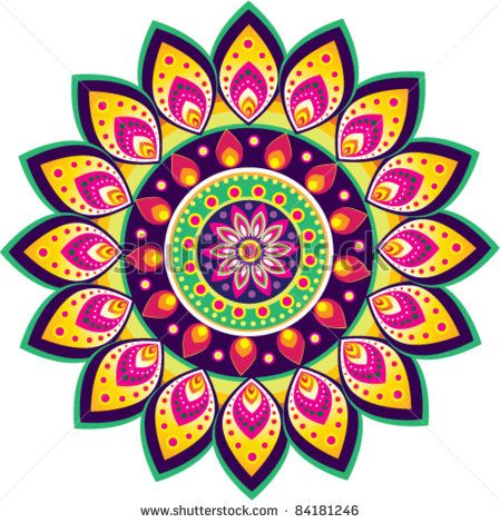 Colorful Indian pattern.