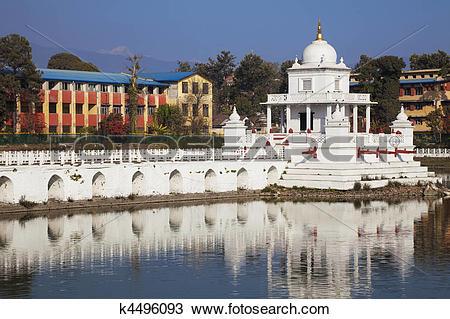 Stock Photo of Rani Pokhari Temple, Kathmandu, Nepal k4496093.