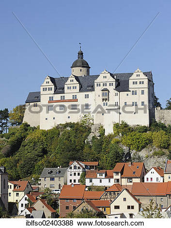 """Pictures of """"Burg Ranis castle, Ranis, Thuringia, Germany, Europe."""