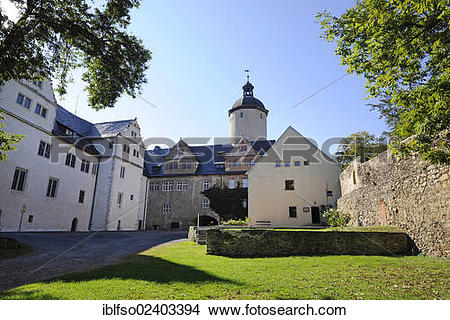 "Stock Photo of ""Courtyard of Burg Ranis castle, Ranis, Thuringia."