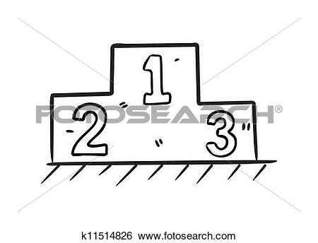 Clip Art of podium rank k11514826.