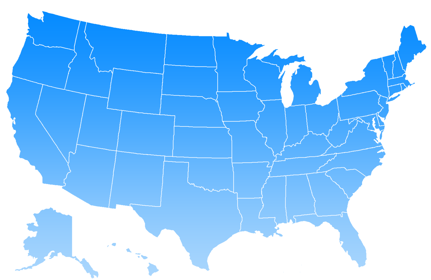 US UNITED STATES Cities Ranked Largest To Smallest Clipart.