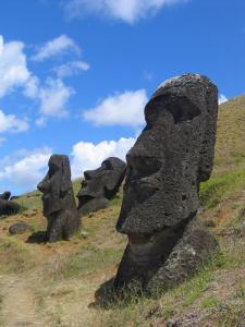 Easter Island Moai At Rano Raraku Clip Art Download.