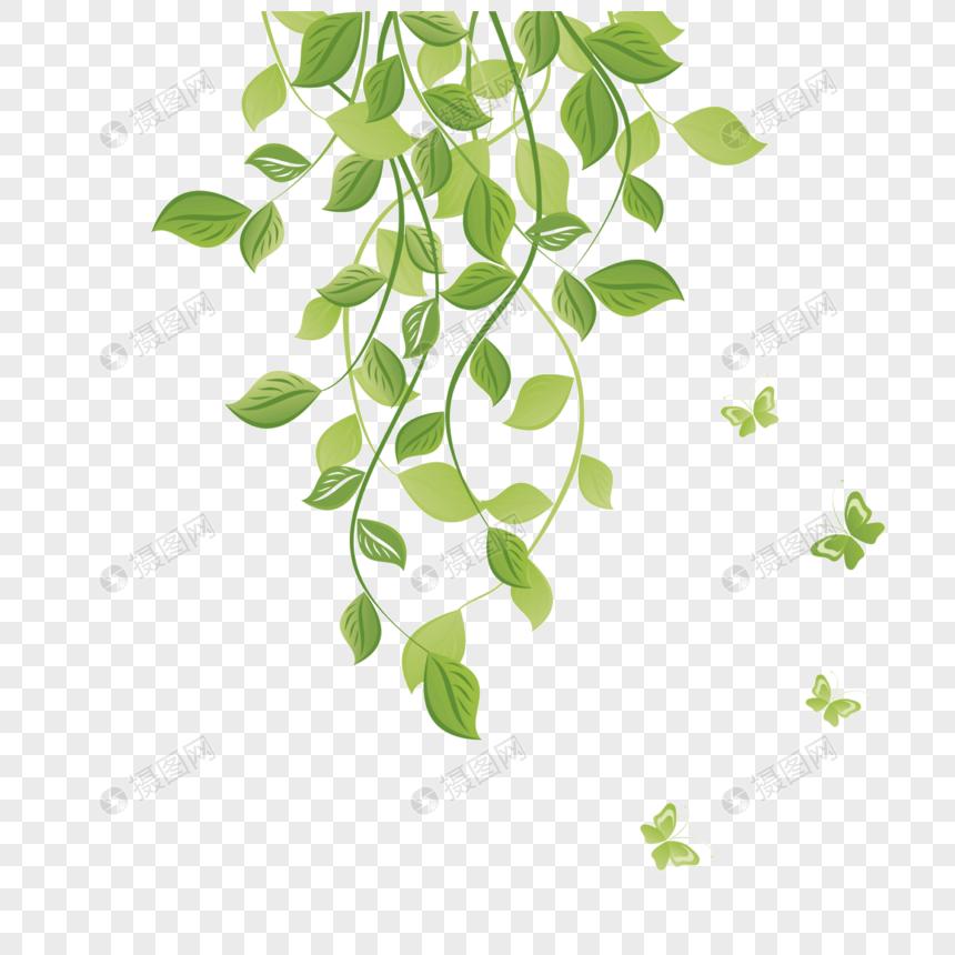 daun dan ranting hijau gambar unduh gratis_ Grafik.