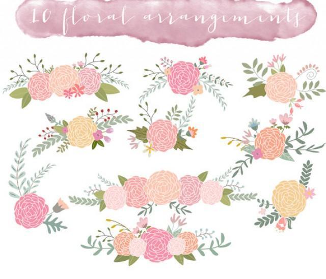 Floral Clip Art, Wedding Clipart, Ranunculus Flowers #2233187.