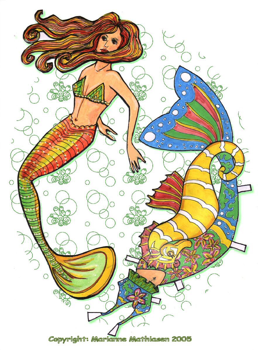 Mermaid paper doll by ranunkel on DeviantArt.