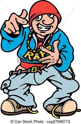 Vector Clipart of rap , hip hop.