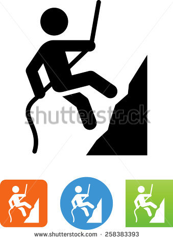 Rappelling Stock Photos, Royalty.