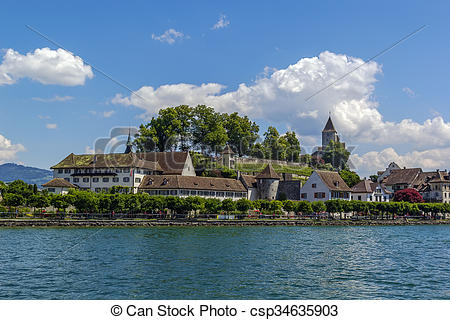 Stock Photography of View of Rapperswil, Switzerland.